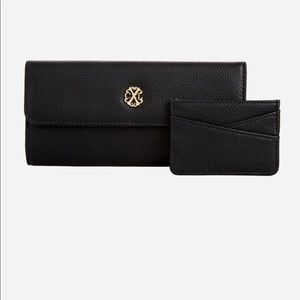 Christian Lacroix Black Wallet and Card Case